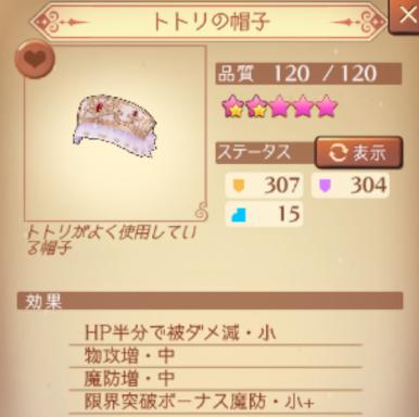 トトリの帽子